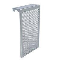 Экран на чугунный радиатор 'Лидер', 290х610х150 мм, 3 секции, металлический, цвет металлик
