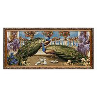 Гобеленовая картина 'Павлины и голуби' 80х40 см