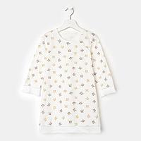 Сорочка 'Инесса' для девочки, цвет молочный/короны, рост 104-110 см (30)