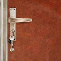 Комплект для обивки дверей 110 x 205 см иск.кожа, поролон 5 мм, гвозди, струна, рыжий, 'Рулон'