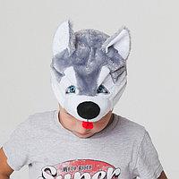 Шапка 'Собака Хаски' обхват головы 52-57см