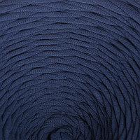 Пряжа трикотажная широкая 100м/320±15гр, ширина нити 7-9 мм (дымчато-син.)