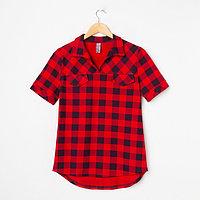 Рубашка женская 'Катрин' цвет красный, размер 52