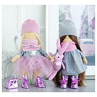 Интерьерные куклы 'Подружки Вики и Ники- на праздник' набор для шитья,15,6 x 22.4 x 5.2 см