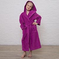 Халат махровый детский, размер 34, цвет розовый, 340 г/м2 хл.100 с AIRO