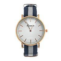 Часы наручные женские 'Женева', белый циферблат, ремешок текстиль