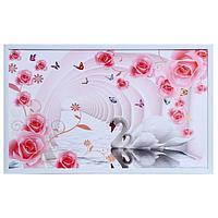 Картина 'Лебеди в цветочной арке' 60х100(65х105) см