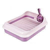 Набор туалет+совок 'Феликс' для кошек, 45 x 35 x 15 см, фиолетовый