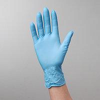 Перчатки нитриловые, текстурированные на пальцах A.D.M. 'Усиленные', размер S, 100 шт/уп, 9 г