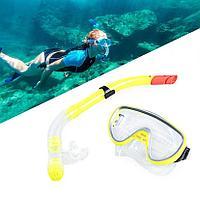 Набор для плавания Conquest (дыхательная трубка и маска) желтый