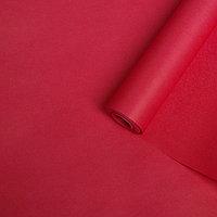 Бумага упаковочная крафт двусторонняя, малиновый, 0,5 х 10 м, 70 г/м /м2