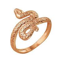 Кольцо 'Змея', позолота, 16 размер