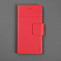 Чехол-книжка для телефона Maverick Slimcase, универсальный, 5-5.2', красный