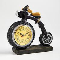 Часы настольные 'Велосипед', дискретный ход, 20 х 21 см, d8 см