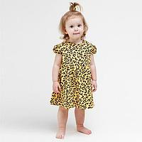 Платье для девочки, цвет жёлтый, рост 92 см