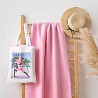 Набор LoveLife 'Yoga mom' сумка-шопер 33*39 см + флисовый плед 150*130 см