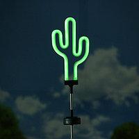Садовый светильник ЭРА, 'Кактус', неоновый, на солнечной батарее