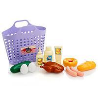 Игровой набор 'Продуктовая корзинка' 12 предметов, цвета МИКС