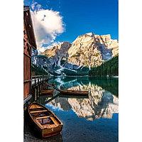 Картина на подрамнике 'Горное озеро' 50*100 см