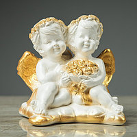 Сувенир-статуэтка 'Пара ангелов с букетом', 13 см