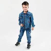 Куртка джинсовая для мальчика, цвет голубой, рост 128 см