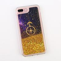 Чехол для телефона iPhone 7,8 PLUS с блёстками внутри Stars , 7.7 x 15.8 см