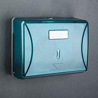 Диспенсер бумажных полотенец в листах, 15,5x19x10 см, пластиковый, цвет голубой