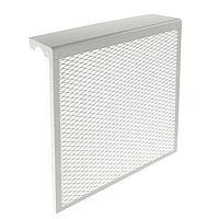 Экран на чугунный радиатор, 490 х 610 х 142 мм, 5 секций, металлический, белый