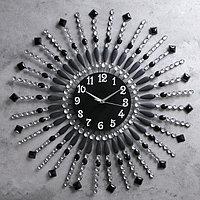 Часы настенные, серия Ажур, 'Стрелы с бусинами', d69 см