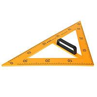 Треугольник для школьной доски, с держателем, прямоугольный, 45