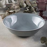 Салатник 'Акварель', 1 л, цвет светло-серый