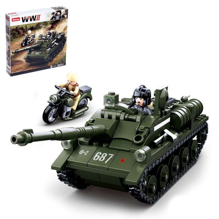 Конструктор Армия 'Боевой танк', 338 деталей - фото 1