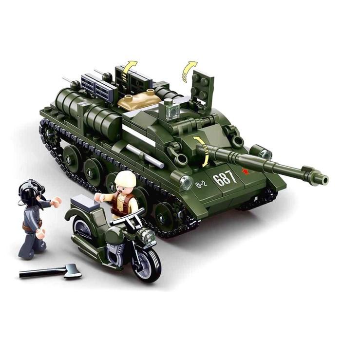 Конструктор Армия 'Боевой танк', 338 деталей - фото 2
