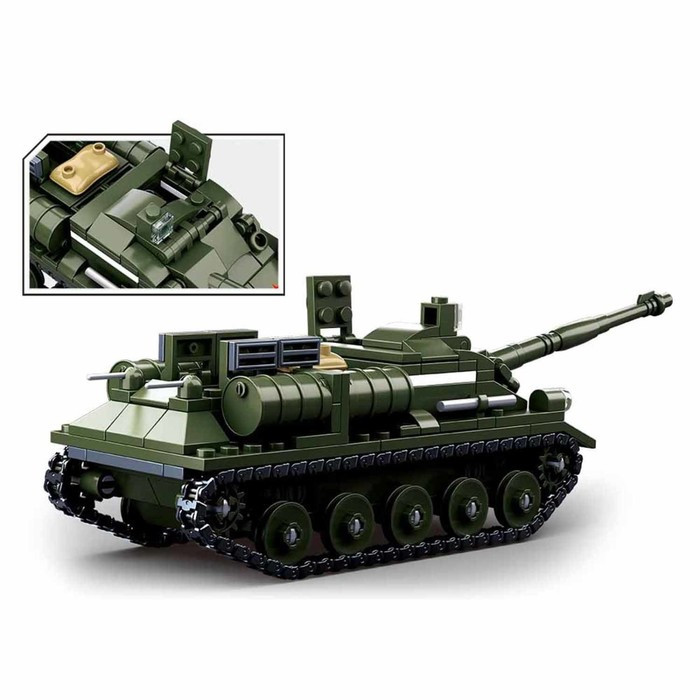 Конструктор Армия 'Боевой танк', 338 деталей - фото 3