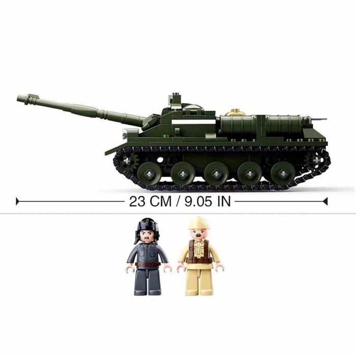 Конструктор Армия 'Боевой танк', 338 деталей - фото 4