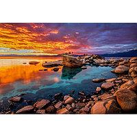 Картина на подрамнике 'Каменистый берег' 50*100 см