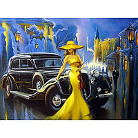 Картина на подрамнике 'Дама в шляпе' 50*100 см