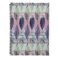 Тетрадь А4, 60 листов в клетку, на гребне Flora, пластиковая обложка, блок офсет