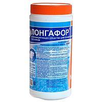 Дезинфицирующее средство 'Лонгафор' таблетки 200 г, для воды в бассейне, банка, 1 кг