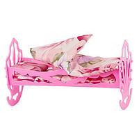 Кроватка кукольная, с комплектом белья матрас, подушка, одеяло