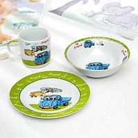 Набор детской посуды Доляна 'Друзья', 3 предмета кружка 230 мл, миска 400 мл, тарелка