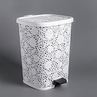 Ведро для мусора с педалью 'Ажурное', 12 л, цвет МИКС