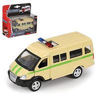 Машина металлическая 'Микроавтобус Инкассация', масштаб 150, инерция