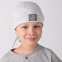 Бандана для мальчика, цвет серый, размер 54-58