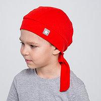 Бандана для мальчика, цвет красный/звезда, размер 54-58