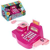Игровой набор касса 'Магазинчик', с аксессуарами, световые и звуковые эффекты, цвета МИКС