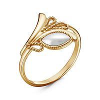 Кольцо 'Жемчуг' лавра, позолота, 20 размер