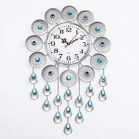 Часы настенные, серия Ажур, 'Малика', дискретный ход, 47 х 30 см, d циферблата16 см
