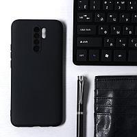 Чехол Krutoff, для Xiaomi Redmi 9, матовый, черный