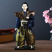 Кукла коллекционная 'Самурай с мечом' 30х12,5х12,5 см